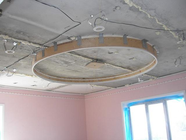 Как сделать потолки натяжные двухуровневые